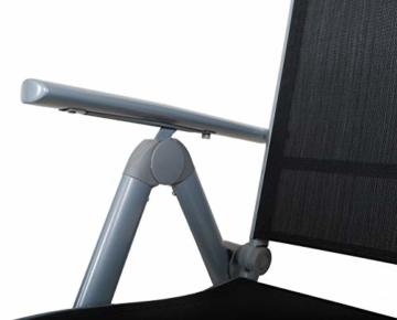 Chicreat Campingstuhl mit hoher Rückenlehne, Aluminium - Silber/Schwarz - 5