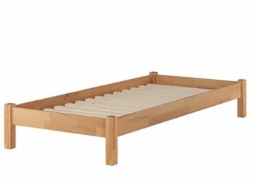 Erst-Holz® Buche-Bett Futonbett Einzelbett 90x200 Massivholzbett Natur Rollrost 60.84-09 - 1
