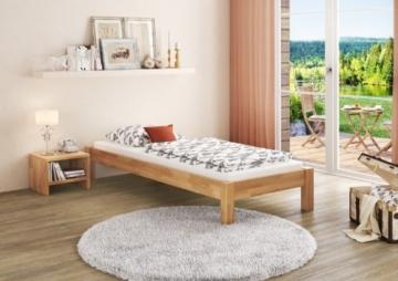 Erst-Holz® Buche-Bett Futonbett Einzelbett 90x200 Massivholzbett Natur Rollrost 60.84-09 - 5
