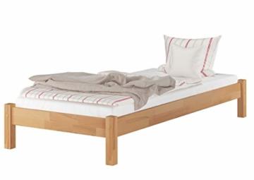 Erst-Holz® Buche-Bett Futonbett Einzelbett 90x200 Massivholzbett Natur Rollrost 60.84-09 - 7