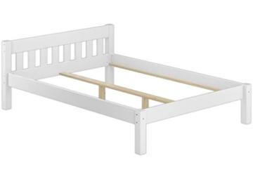 Erst-Holz® Doppelbett 160x200 Futonbett Ehebett weiß Kiefer Massivholzbett Rollrost 60.38-16 W - 3