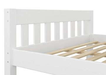 Erst-Holz® Doppelbett 160x200 Futonbett Ehebett weiß Kiefer Massivholzbett Rollrost 60.38-16 W - 7