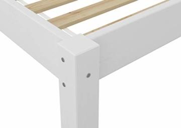 Erst-Holz® Doppelbett 160x200 Futonbett Ehebett weiß Kiefer Massivholzbett Rollrost 60.38-16 W - 8
