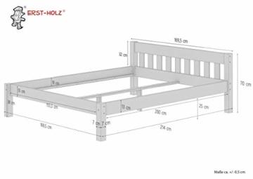 Erst-Holz® Doppelbett 160x200 Futonbett Ehebett weiß Kiefer Massivholzbett Rollrost 60.38-16 W - 9