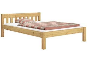 Erst-Holz® Doppelbett Massivholzbett 140x200 Kiefer Natur Futonbett Einzelbett Rollrost 60.38-14 - 2