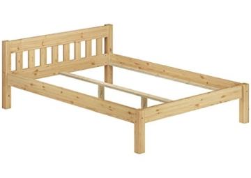 Erst-Holz® Doppelbett Massivholzbett 140x200 Kiefer Natur Futonbett Einzelbett Rollrost 60.38-14 - 5