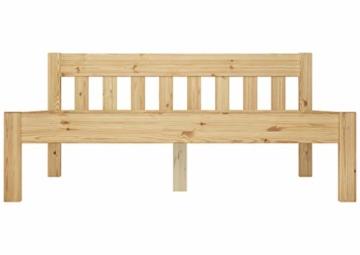 Erst-Holz® Doppelbett Massivholzbett 140x200 Kiefer Natur Futonbett Einzelbett Rollrost 60.38-14 - 8