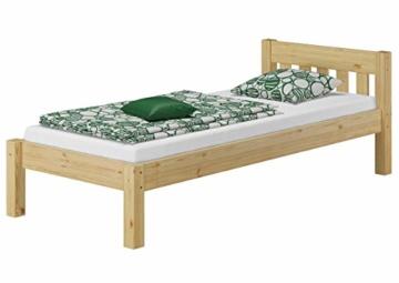 Erst-Holz® Einzelbett Massivholz-Bett Kiefer Natur 90x200 Futonbett Jugendbett Rollrost Singlebett 60.38-09 - 4
