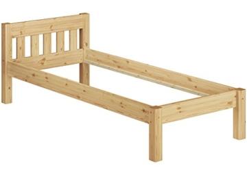 Erst-Holz® Einzelbett Massivholz-Bett Kiefer Natur 90x200 Futonbett Jugendbett Rollrost Singlebett 60.38-09 - 5