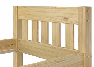 Erst-Holz® Einzelbett Massivholz-Bett Kiefer Natur 90x200 Futonbett Jugendbett Rollrost Singlebett 60.38-09 - 6