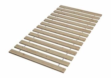 Erst-Holz® Einzelbett Massivholz-Bett Kiefer Natur 90x200 Futonbett Jugendbett Rollrost Singlebett 60.38-09 - 9