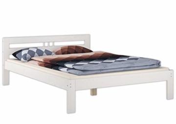 Erst-Holz® Massivholzbett weiß Kiefer Jugendbett 120x200 Einzelbett Futonbett mit Rollrost 60.64-12 W - 3