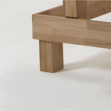 Eternity-Möbel Futonbett Schlafzimmerbett Massivholzbett Kernbuche Buche geölt Bett inkl. 2 x Bettkasten Liegefläche 180 x 200 cm - 5