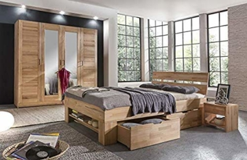 Eternity-Moebel24 Futonbett Schlafzimmerbett Massivholzbett Kernbuche massiv inkl. Bettkästen u. Fußteil in 2 Größen (140 x 200 cm) - 4