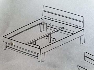 Eternity-Moebel24 Futonbett Schlafzimmerbett Massivholzbett Kernbuche massiv inkl. Bettkästen u. Fußteil in 2 Größen (140 x 200 cm) - 5