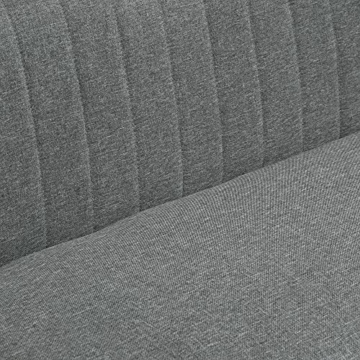 HOMCOM 2-Sitzer Couch Stoffsofa Polstersofa Sitzmöbel Holz hellgrau 117 x 56,5 x 77 cm - 6