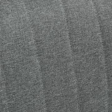 HOMCOM 2-Sitzer Stoffsofa Polstersofa Sitzmöbel Loungesofa Holz Schaumstoff Hellgrau 117 x 56,5 x 77 cm - 7
