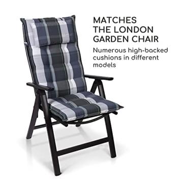 Homeoutfit24 Sun Garden Premium Line 2er Set Gartenstuhl - Hochlehner London in Anthrazit, Klappsessel aus Aluminium - 2