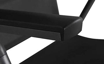 KHG Gartenstuhl mit Armlehnen aus Aluminium, klappbar, wetterfest, 5-fach verstellbare Rückenlehne, 110kg belastbar - Anthrazit, Anzahl:1 Stück - 6