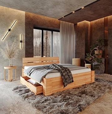 Krok Wood Massivholzbett ELSA in Buche (Bett, 180 x 200 cm) - 2