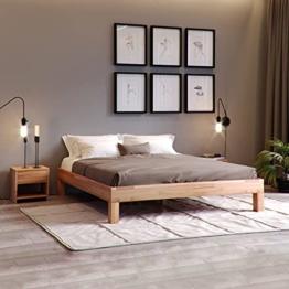 Krok Wood Massivholzbett Jana in Buche (140 x 200 cm) - 1