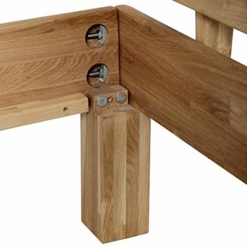 Krok Wood Massivholzbett Julia mit Kopfteil in Eiche (160 x 200 cm) - 5