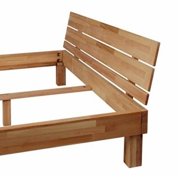 Krok Wood Massivholzbett Valetta mit Kopfteil in Buche 140x200 cm - 4