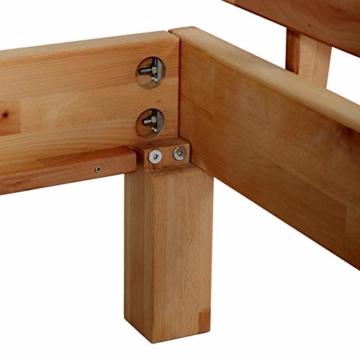 Krok Wood Massivholzbett Valetta mit Kopfteil in Buche 140x200 cm - 5