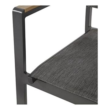 lifestyle4living Gartenstuhl 2er Set (stapelbar), Alu, Bezug (anthrazit), Wetterfester Metall Garten Stapelstuhl. Ideal auch als Balkon-Stuhl und Terrassenstuhl - 6