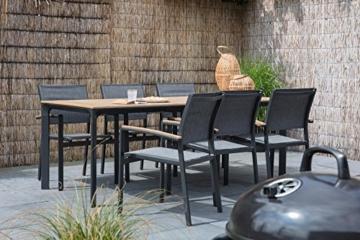 lifestyle4living Gartenstuhl 2er Set (stapelbar), Alu, Bezug (anthrazit), Wetterfester Metall Garten Stapelstuhl. Ideal auch als Balkon-Stuhl und Terrassenstuhl - 9