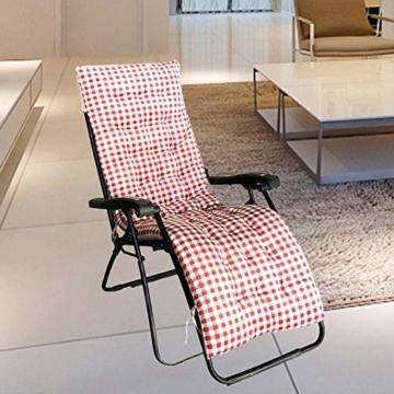 Lvhan Auflagen für Gartenliegen - Gartenstuhl Auflage,Liege Stuhl Polster Auflage Liegestuhl Stuhlkissen Anti-Rutsch für Sonnenliege 170x50cm 125x50cm - 3