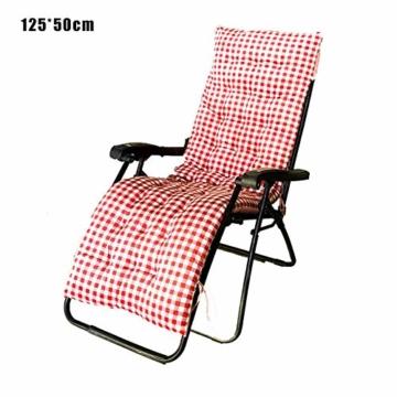 Lvhan Auflagen für Gartenliegen - Gartenstuhl Auflage,Liege Stuhl Polster Auflage Liegestuhl Stuhlkissen Anti-Rutsch für Sonnenliege 170x50cm 125x50cm - 1