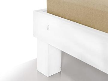 Massivholzbett Pumba Holzbett Doppelbett, Material Massivholz, Made in Germany, 120 x 200 cm, Weiss - 2
