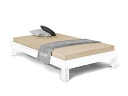 Massivholzbett Pumba Holzbett Doppelbett, Material Massivholz, Made in Germany, 120 x 200 cm, Weiss - 1