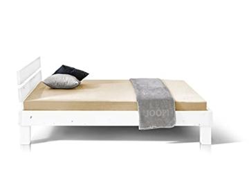 Massivholzbett Pumba Holzbett Doppelbett, Material Massivholz, Made in Germany, 120 x 200 cm, Weiss - 4