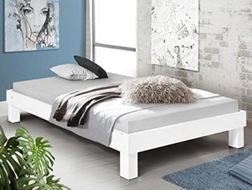 Massivholzbett Pumba Holzbett Doppelbett, Material Massivholz, Made in Germany, 120 x 200 cm, Weiss - 5
