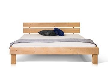 Massivholzbett Pumba Holzbett Doppelbett, Material Massivholz, Made in Germany, 180x200 cm, eichefarbig - 3
