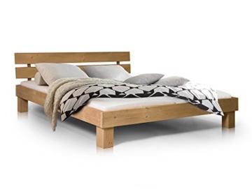 Massivholzbett Pumba Holzbett Doppelbett, Material Massivholz, Made in Germany, 180x200 cm, eichefarbig - 1