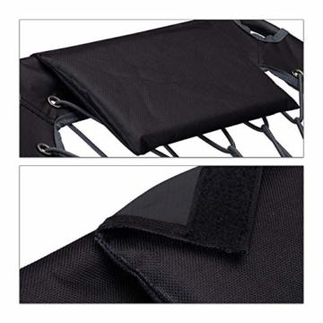 Relaxdays Bungee Stuhl WEBSTER, elastischer Outdoor Gartenstuhl mit Nackenkissen, faltbar, bis 100 kg, schwarz-grau - 6