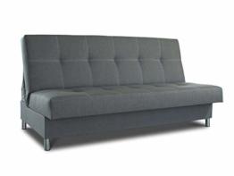 Schlafsofa Bella mit Schlaffunktion - 3 Sitzer Sofa, Couch mit Bettkasten, Bettsofa, Schlafsofa, Polstersofa, Couchgarnitur (Graphit (Inari 94)) - 1