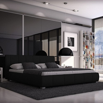 SEDEX Luna Bett 180x200cm / Polsterbett/Designerbett/Kunstleder - schwarz - 1