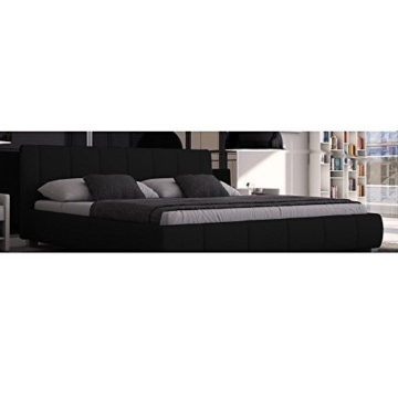 SEDEX Luna Bett 180x200cm / Polsterbett/Designerbett/Kunstleder - schwarz - 2