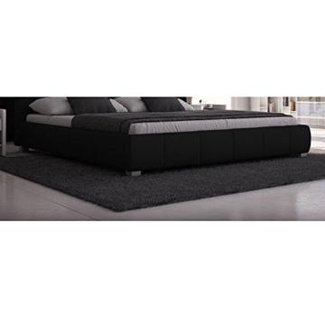 SEDEX Luna Bett 180x200cm / Polsterbett/Designerbett/Kunstleder - schwarz - 3