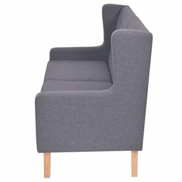 vidaXL Sofa 2-Sitzer Stoff Skandinavisch Grau Polstersofa Loungesofa Sitzmöbel - 4