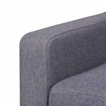 vidaXL Sofa 2-Sitzer Stoff Skandinavisch Grau Polstersofa Loungesofa Sitzmöbel - 6
