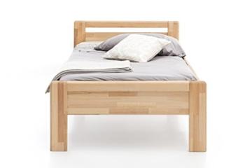 WOODLIVE DESIGN BY NATURE Massivholz-Bett aus Kernbuche, als Seniorenbett geeignet, in Komforthöhe, geöltes Einzel- und Komfortbett mit Kopfteil (90 x 200 cm) - 3