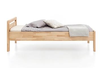 WOODLIVE DESIGN BY NATURE Massivholz-Bett aus Kernbuche, als Seniorenbett geeignet, in Komforthöhe, geöltes Einzel- und Komfortbett mit Kopfteil (90 x 200 cm) - 4