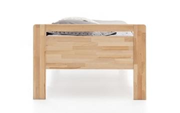 WOODLIVE DESIGN BY NATURE Massivholz-Bett aus Kernbuche, als Seniorenbett geeignet, in Komforthöhe, geöltes Einzel- und Komfortbett mit Kopfteil (90 x 200 cm) - 5