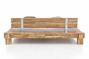 WOODLIVE DESIGN BY NATURE Massivholz-Bett Kavas aus Wildeiche, Balkenbett, massives Holzbett als Doppel- und Komfortbett verwendbar (200 x 200 cm) - 4