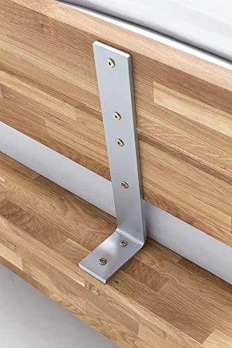 WOODLIVE DESIGN BY NATURE Massivholz-Bett Kavas aus Wildeiche, Balkenbett, massives Holzbett als Doppel- und Komfortbett verwendbar (200 x 200 cm) - 7